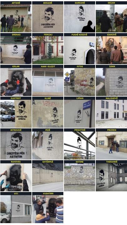 """Në gjithë Kosovën shkruhen grafite """"Drejtësi për Astritin"""""""